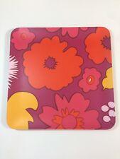 NEW Marimekko for Target Square Serving Tray - Kukkatori Print Warm Pink Orange