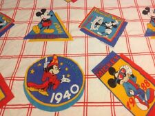 Walt Disney Mickey Mouse Through The Ages Flannel Twin Flat Sheet Fantasia