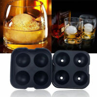 Whiskey Ice Ball Maker Mold Black Flexible Silicone Tool Ice Cube Round Sph D1J1