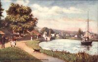 TUCK Oilette Bonnie Scotland Ardrishaig Crinan Canal c1910 Postcard
