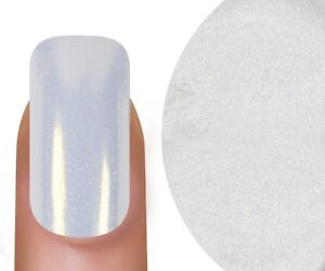 Gold Pearl White Nail Pigment Mirror Powder Chrome Effect Art Glitter Aurora NEW