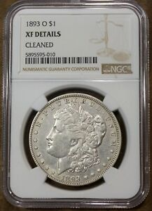 1893 O Morgan Silver Dollar NGC XF Details Cleaned US Coin