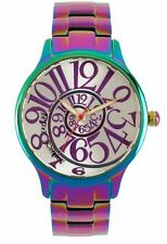BETSEY JOHNSON BJ00040-11 Women's Rainbow Stainless Steel Watch NEW**