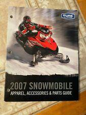 2007 Polaris Snowmobile Full Parts Apparel Accessories Dealer Catalog