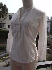 MIU MIU White Stripes Leisure Cotton Blouse Top I38 S