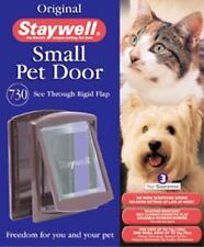 Staywell - Pet dog door / cat flap. Plastic cover. Original Brown Small / Medium