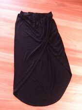 LADIES CUTE BLACK WRAP LOOK COTTON LONG SKIRT BY TEMPERATURE SIZE M - 10/12