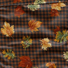 Longaberger Maple Leaf Liner ~ Fall Gingham Fabric - over the edge