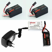 2 x 2500mAh Battery batterie For Parrot AR Drone 2.0 + Speed Balance Charger