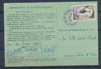 1965 carte Ordre de réexpédition des correspondances tarif à 10F PA N°41 P4312
