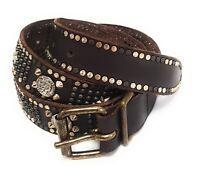 """DIESEL Leder Designer Gürtel """"Begely"""" Leather Belt  80cm Handarbeit #4"""