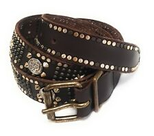 77d89d228a8be7 Diesel Size 80 / 32 Begely Studded Genuine Leather Pin Buckle Belt