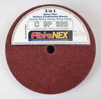 1x FibraNEX Polierscheibe für Eisen, Stahl, Holz 9P - 320 aus Nylonfaser - 25