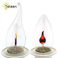 Vintage Flickering Flame Fire LED Edison Bulb AC 220V Candle Light 3W E27 B49D