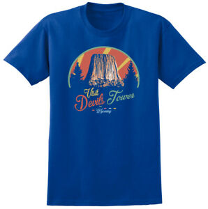 Close Encounters Inspired Devils Tower T-shirt - Retro Sci Fi Iconic Film Tee