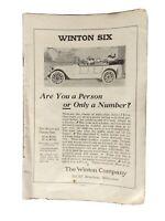 VINTAGE PRINT AD , 1917 ,  WINTON SIX , MILWAUKEE - ORIGINAL