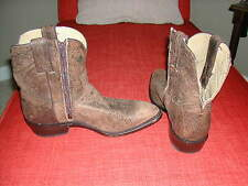 FRYE Cowboy boots Billy Stitch Short/Shortie Crackled Leather, size 9 VGC $278