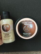 2 pc The Body Shop Shea Travel Set Body Butter 1.69oz  & Shower Cream 2oz New