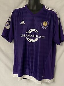 Womens ADIDAS size XL Orlando City SC MLS Purple Soccer Jersey ClimaCool