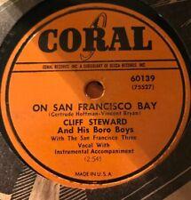 Cliff Steward 78rpm Coral 60139 ON SAN FRANCISCO BAY-V+