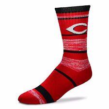 MLB Cincinnati Reds Logo RMC Stripe Mens Large Crew Cut Socks
