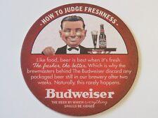2005 MISSOURI Beer Coaster ~ Anheuser-Busch BUDWEISER ~ How To Judge Freshness