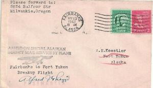 Cover Envolope from Fort Yukon Alaska 1943