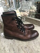 Men's WOLVERINE '1000 Mile' Brown Leather Plain Toe Boots Size US 13 - D