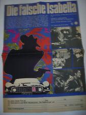 626 DDR A2 FILMPLAKAT 1969 DIE FALSCHE ISABELLA HAMIS ISABELLA Ungarn 1967