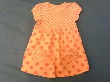 Girls 9-12 Months - Pink Spotted Short Sleeve Dress
