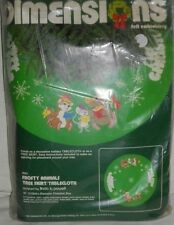 "Dimensions Tree Skirt Kit 9501 Frosty Animals 45"" Christmas Holiday Table Cover"