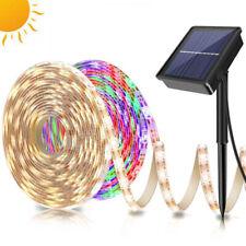 Solar Powered LED Strip Lights 90/150 RGB Warm White String Lamp 2835 for Garden