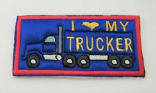 I LUV MY TRUCKER EMBROIDERED IRON ON PATCH / BADGE / APPLIQUE