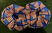 Hair Scrunchies - USA Flag Print - Handmade