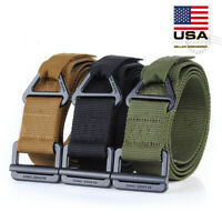 Adjustable Nylon Waistband Outdoor Combat Rescue Rigger Military Tactical Belt