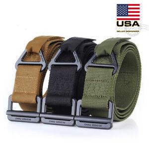 new -black, For waist 36~42 Nylon Webbing Waist Belt Tactical Rigger Belt