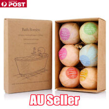 6Pcs Aromatherapy Bubble Bath Bombs with Coconut Oil GIFT Bath Fizzies ON