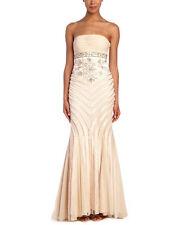 New Sue Wong Strapless Empire Waist, Trumpet Mermaid Embellished Dress/Gown Sz 8