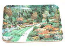 Vintage 70's Melamine Souvenir The Butchart Gardens Ashtray Trinket Coin Plate