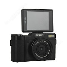 UPHIG 24MP HD 1080P DSLR Portable 4x Zoom Digital Cameras +Wide-angle Lens T1