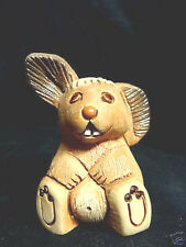 Retired & Perfect Rinconada of Uruguay Tan Bunny Rabbit w/ White Cottontail