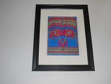 "Framed Steve Miller Band / The Doors 1967 Avalon Sf Ca Handbill Print 14"" by 17"""