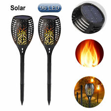 Hot 96 LED Solar Torch Light Flickering Lighting Dancing Flame Garden Yard Lamps