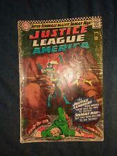 JUSTICE LEAGUE OF AMERICA #45 SEKOWSKY ART 1st SHAGGY MAN ISSUE VG dc comics lot