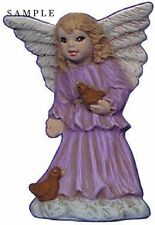 Angel Ornament with Birds 2.5 inch Hand made Ceramic Ready to paint bisque