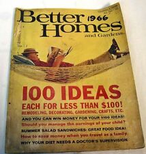 BETTER HOME AND GARDENS July 1966 100 IDEAS EACH FOR LESS THAN $100