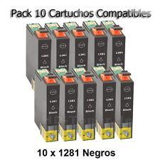 10 cartuchos Negro Non Oem Epson Stylus sx125 sx130 sx230 sx235w sx430 sx445
