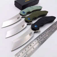 Tactical Folding knife D2 Blade Steel G10 Handle Hunting Camping Pocket Knives