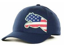 New Puma Red White & Blue Flag Cat USA Flexfit Hat Size S/M Last Ones! BA