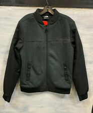 Men's NORTH FACE NF0A39MX Far Northern Hybrid Bomber Jacket Coat, S - Black Gray